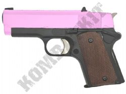Army R45 Airsoft Pistol 1911 .45 Cal Compact Gas Blowback BB Gun Black Pink 2 Tone